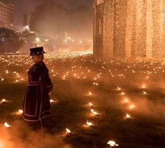 We Recommend - Torches lighting up the Tower of London